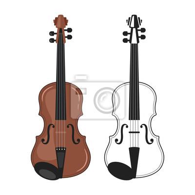 Naklejka Instrument muzyczny - skrzypce