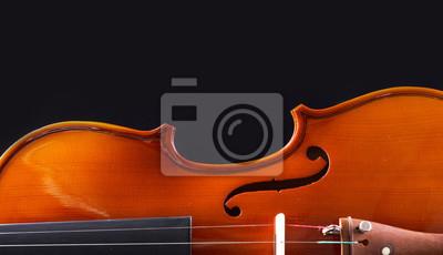 Naklejka Instrumenty muzyczne Orkiestry skrzypcowej