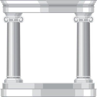 Naklejka Ionic realistyczne antyczny grecki świątynia z kolumnami