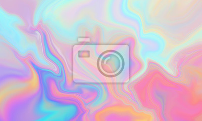 Naklejka Iridescent abstract liquid marbeled background texture