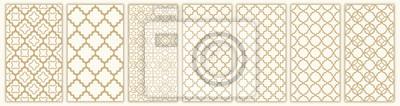 Naklejka Islamic seamless pattern with arabic and islamic ornament big set