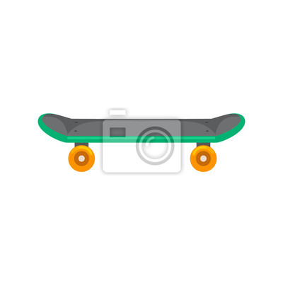 Naklejka izolowane deskorolka z kołem do aktywnego trybu życia, sport ekstremalny dla aktywności młodzieży, balans ulicy ilustracji wektorowych Transport