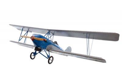 Naklejka izolowane model samolotu na białym