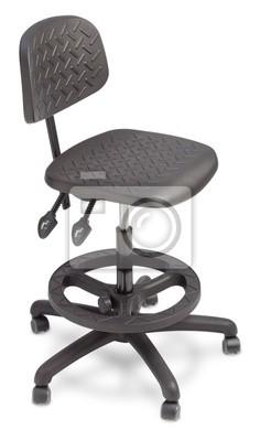 Naklejka Izolowane opracowanie krzesło