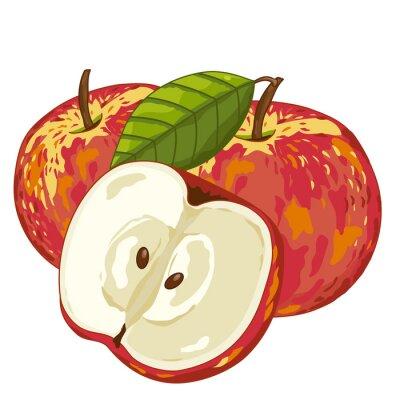 Naklejka Jabłko na białym tle.