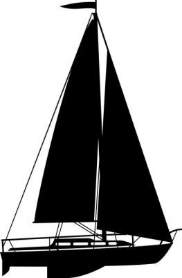Naklejka Jacht na białym tle