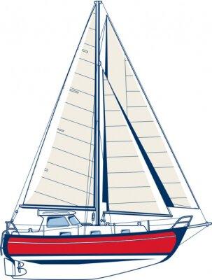 Naklejka Jacht żaglowy