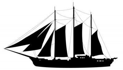 Naklejka jachtu sylwetki