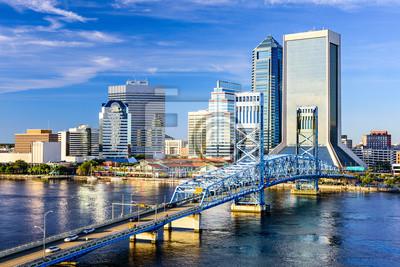 Naklejka Jacksonville, Floryda, Stany Zjednoczone Panoramę miasta