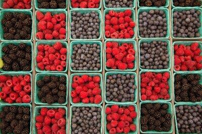 Naklejka Jagody, maliny jagody i jeżyny z rzędu