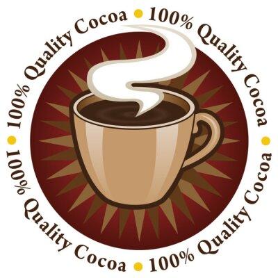 Naklejka Jakość 100% Cocoa Seal / Mark / Icon