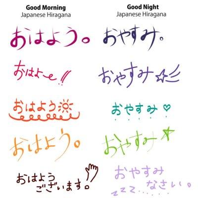 Naklejka Japanese Hiragana & Kanji Font