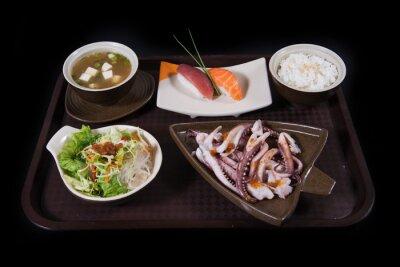 Naklejka Japonia Jedzenie zestaw