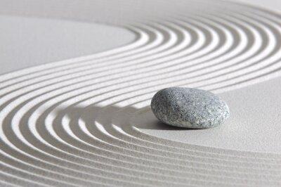 Naklejka Japonia Zen Garden w piasku z kamienia