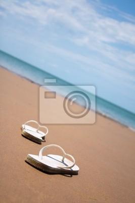 Naklejka Japonki na plaży