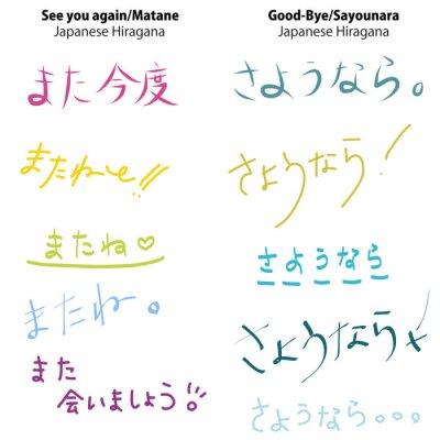 Naklejka Japoński hiragana i Kanji Czcionka
