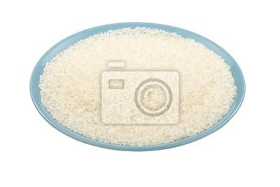 Naklejka Japoński ryżu w niebieskim Plate