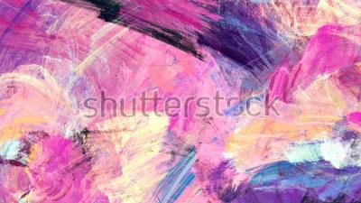 Naklejka Jasne artystyczne plamy. Malarstwo abstrakcyjne tekstury kolorów. Nowoczesny futurystyczny wzór. Multicolor dynamiczne tło. Fraktalna grafika do kreatywnego projektowania graficznego.