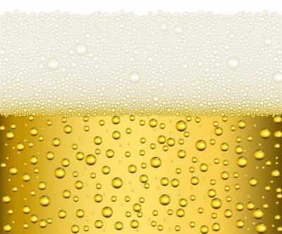 Naklejka Jasne piwo z dużym białym tle ilustracji pianki