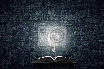 Naklejka Jasne światło edukacji