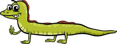 Naklejka jaszczurka cartoon ilustracji