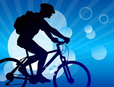 Naklejka Jazda na rowerze - 10
