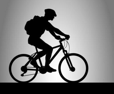 Naklejka Jazda na rowerze - 19
