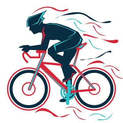 Naklejka jazda na rowerze, rover, sport