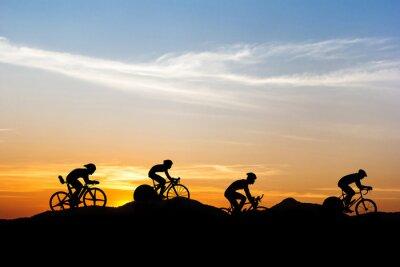 Naklejka Jazda na rowerze w górach