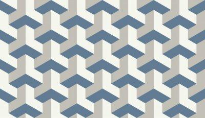Naklejka Jednolite jasnoniebieski op-art trójstronne sześciokątny wzór wektora