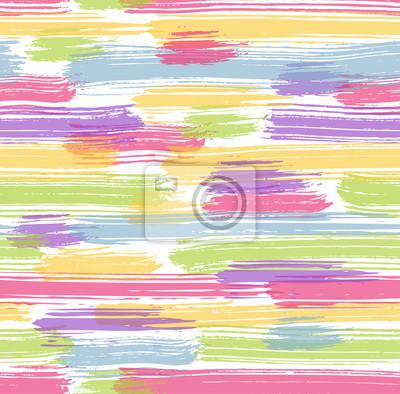 Naklejka Jednolite kolorowe paski szczotki