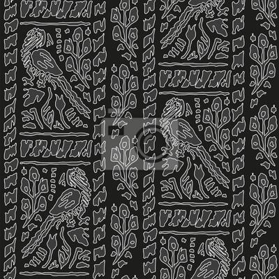 Jednolite tło z Parrot Wzór