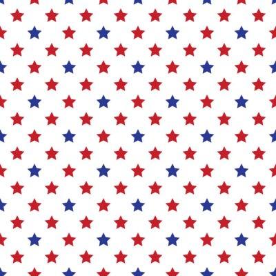 Naklejka Jednolite wojskowego lub 04 lipca tapety. Seamfree Americana patriotą tła. Czerwone, białe i niebieskie gwiazdki.