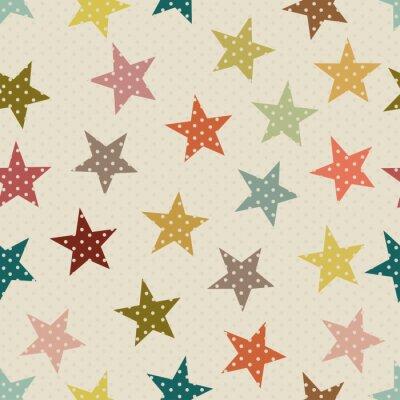 Naklejka Jednolite wzór z kolorowych gwiazdy
