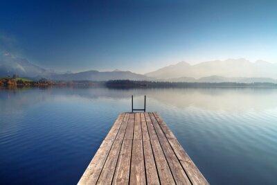 Naklejka Jesień na górskie jezioro