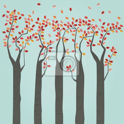 Naklejka Jesienne drzewa
