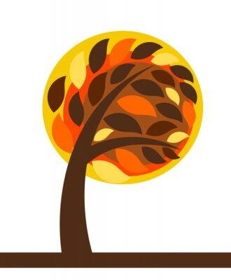 Naklejka Jesienne drzewa izolowane