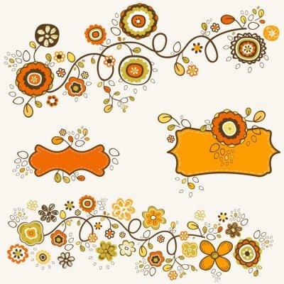 Naklejka Jesienne kwiaty
