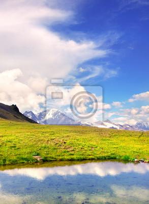Naklejka jeziora i niebo