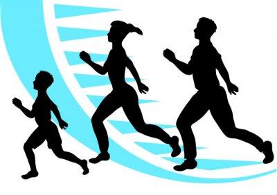 Naklejka jogging. rodzina sportu