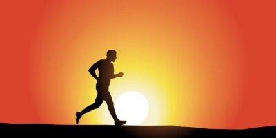 Naklejka Jogging Solitaire