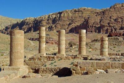 Naklejka Jordanie, świątynia Romain sur le site de Petra