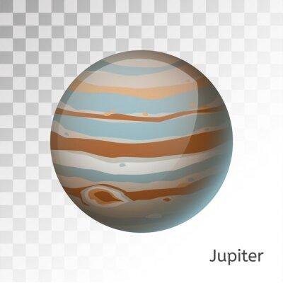 Naklejka Jowisz planeta 3d ilustracji wektorowych