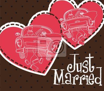 Naklejka Just Married