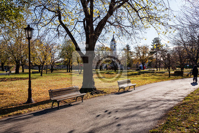 Naklejka Kalemegdan twierdza Belgrad i parku