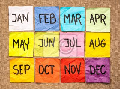 Naklejka kalendarz na karteczki
