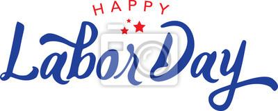 Naklejka Kaligrafia Szczęśliwy Dzień Typografii Wektorowej