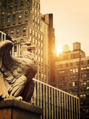 Naklejka Kamień Eagle na Manhattanie