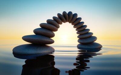 Naklejka Kamień w morzu