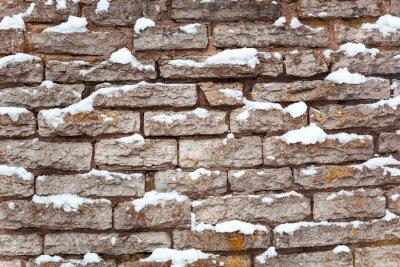 Naklejka Kamienia tle śniegu
